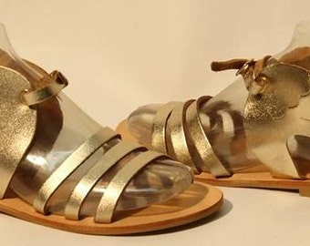 Ancient greek sandals - Geguine leather