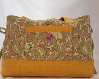 Paisley mini bow tucks purse