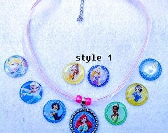 10 Pcs Princess Necklaces Party Favors