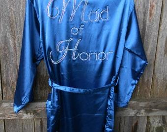 Maid of Honor satin robe