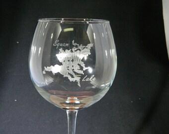 Squam Lake Laser Engraved Glasses