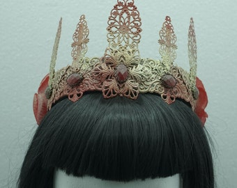 Red golden crown / Crown * ready to ship *.