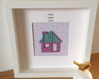 Customised Home Sweet Home, Moving Day, new home, house warming, Personalised, our new home, keepsake frame, framed gift