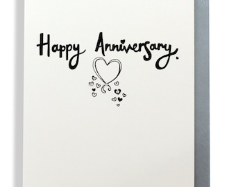 Happy anniversary hand finished greetings card