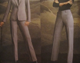 Pattern Vogue 2758 DKNY pants and Blaser
