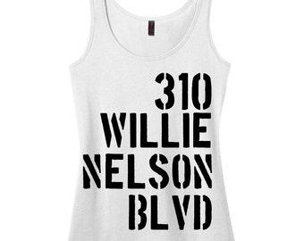 Willie Nelson Boulevard Tank Top