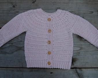 Cotton Blend Baby Cardigan - Blush