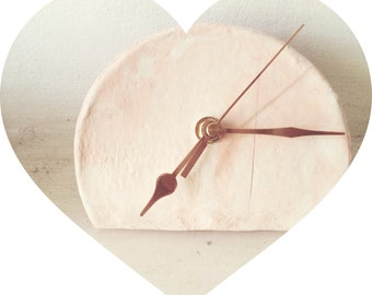 MARBLE effect CLAY CLOCK