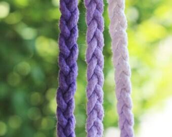 Purple Plum Leash (Single Braid)