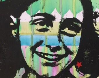ANNE FRANK Pop Art Original Painting