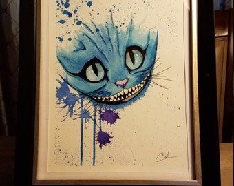 Cheshire Cat - Watercolor