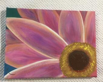 "Pink Sunflower 6x8"""