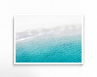 Ocean Print, Sea, Beach, Coast, Coastal, Modern Wall Art, Beach Photo, Aqua, Blue, Waves, Tropical, Turquoise, Travel, Paradise, Summer, Art
