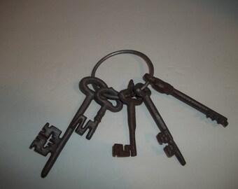 Inspired Ring of Cast Iron Skeleton Keys