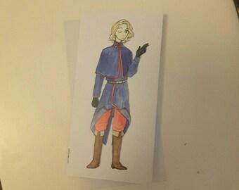 France - Hetalia Handmade Greetings Card - Happy Birthday - Well Done - Thank You - Friend Card - Blank