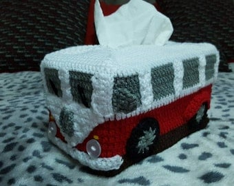 Kombi Van Tissue Box Cover - Crocheted in Any Colour