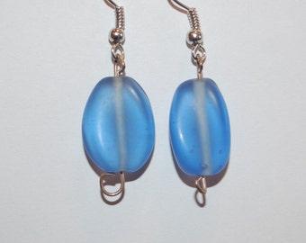 Glazed Blue Earrings