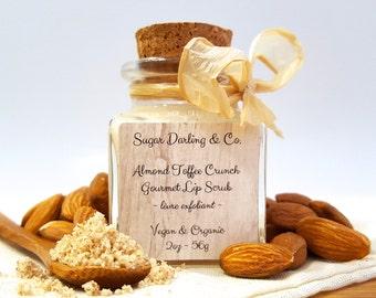 Gourmet Lip Scrub ~ Almond Toffee Crunch (Vegan & Organic)