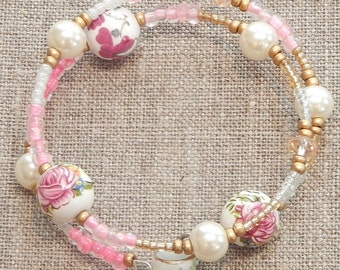 Parisian Tea Time Beaded Bracelet