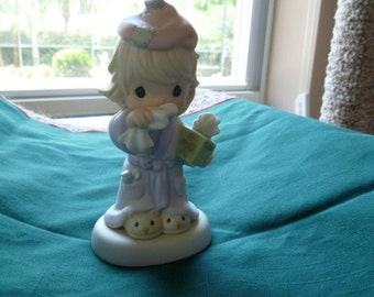 "Precious Moments "" Bless You"" figurine"