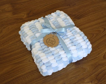 Custom Pompom baby car seat blanket
