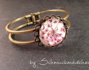 Bangle bronze dill flower purple