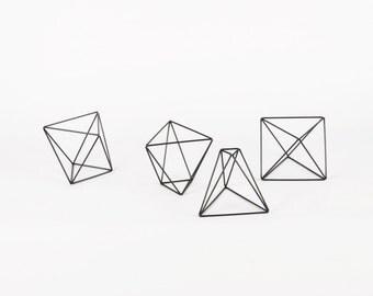 Octahedrons Set of 4 - Handmade Wireframe Decor - JY DesignLab