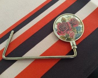 Red Rose Purse Hanger