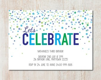 Spots birthday party invitation - DIGITAL FILE