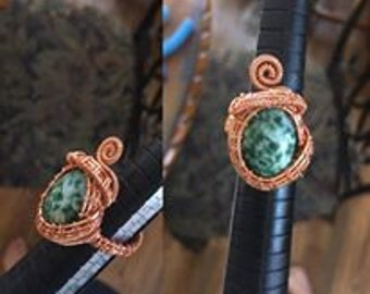 Tree Agate size 8 ring