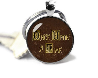 Once Upon a Time Key Ring Key Chain Key Fob Henrys Book Fandom Jewelry Fangirl Fanboy