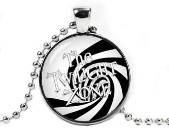 The Twilight Zone Necklace Pendant Fandom Jewelry Rod Serling Fangirl Fanboy