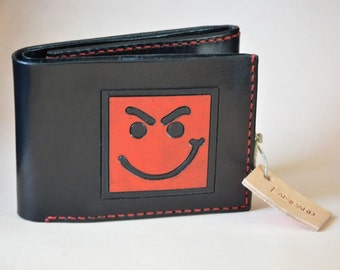 Handmade leather wallet with Bon Jovi, Have a Nice Day