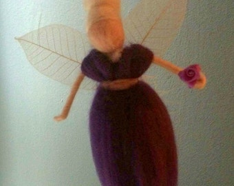 Felted Waldorf fairy ornament