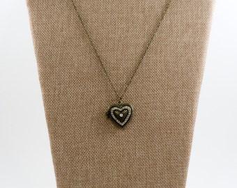 Vintage Heart Locket Necklace