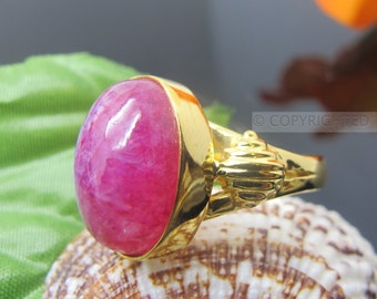 Pink Moonstone Ring, 925 Sterling Silver Ring, Gemstone Rings, Crystal Rings, Healing Rings