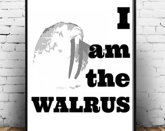 The Beatles, Music Poster, I Am The Walrus, Rock Poster, Instant Art, Print, Music Memorabilia, Printable Digital Download
