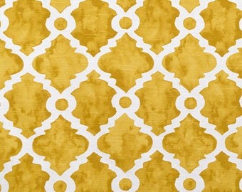 Yellow Golden Curtains Lattice Trellis Window Treatments Curtain Panels Yellow Custom Drapes Pair Living Room Kitchen Drapery