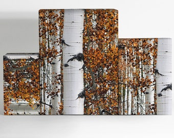 Birch Trees Wrapping Paper; Christmas Gift Wrapping; Christmas Wrapping Paper; Gift Wrapping; Wrapping Paper; Birch Trees Gift Wrapping