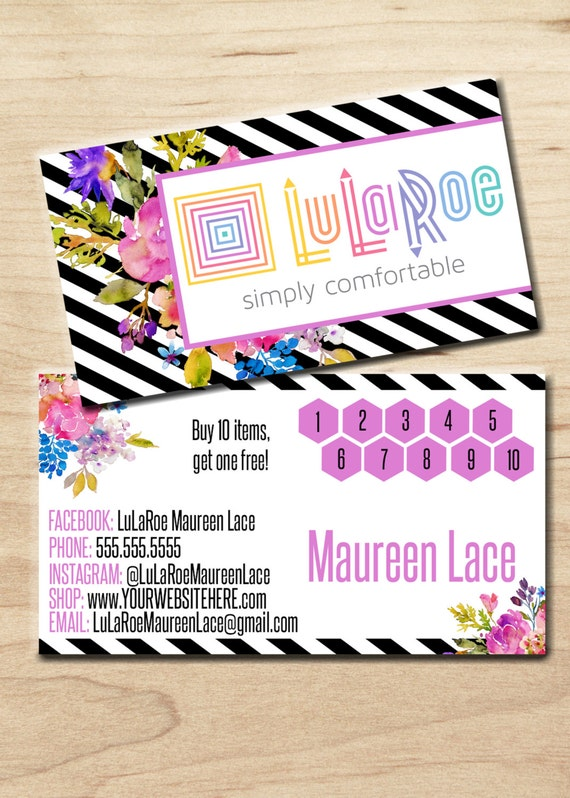 Lularoe business card personalized digital by for Vistaprint lularoe