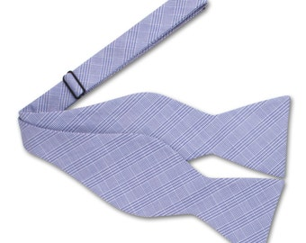 Blue Check Bow tie, Mens Bow tie, Gift