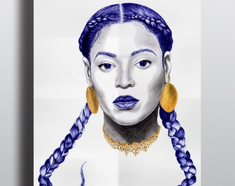 Poster formation, mrs carter, Illustration, Art, Poster, biro, reproduction, art et collection, portrait, realism, icone