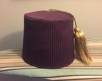Pin Stripe Purple Fez size 6 1/4