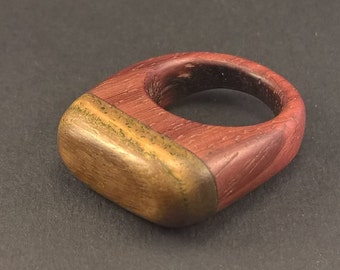 ring of lignum vitae and padouk