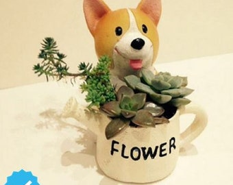 Corgi flower pot