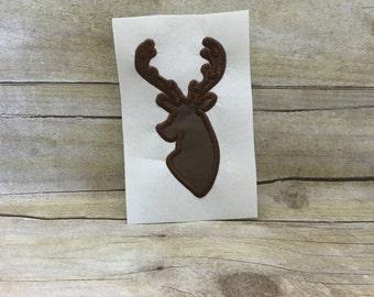 Deer Head Applique, Deer Head Embroidery Design Applique, Deer Applique