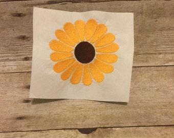Flower Embroidery Design, Flower Applique, Sunflower Applique
