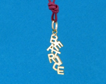 "18 k gold pendant series ""Letterini"" with the name BEATRICE"
