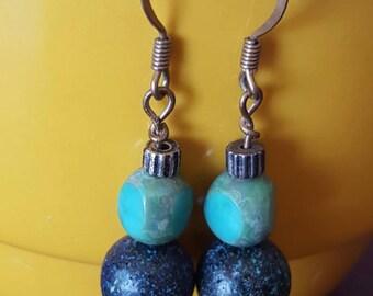 Dreamy blue opal earrings