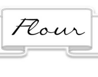 Flour label - Simple Collection